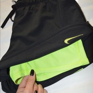 Nike Dri-Fit Spandex Lined Running Shorts